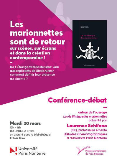 """Conférence-débat """"La vie filmique des marionnettes"""""""