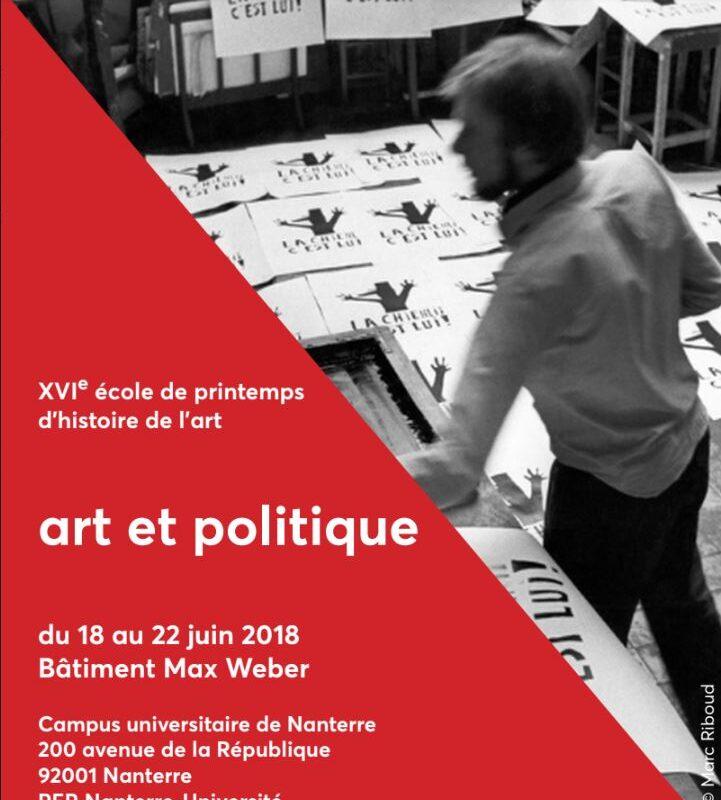 ECOLE INTERNATIONALE DE PRINTEMPS D'HISTOIRE DE L'ART – 18-22 JUIN 2018, BÂT. Max Weber (Nanterre)