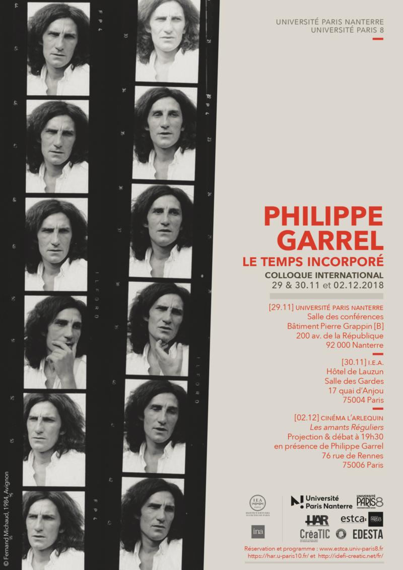 Colloque Philippe Garrel, 29-30 novembre et 2 décembre 2018