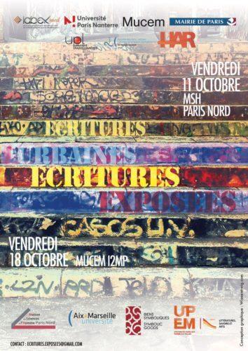 Colloque / Écritures urbaines, Écritures exposées, 11 octobre, Saint-Denis et 18 octobre, Marseille