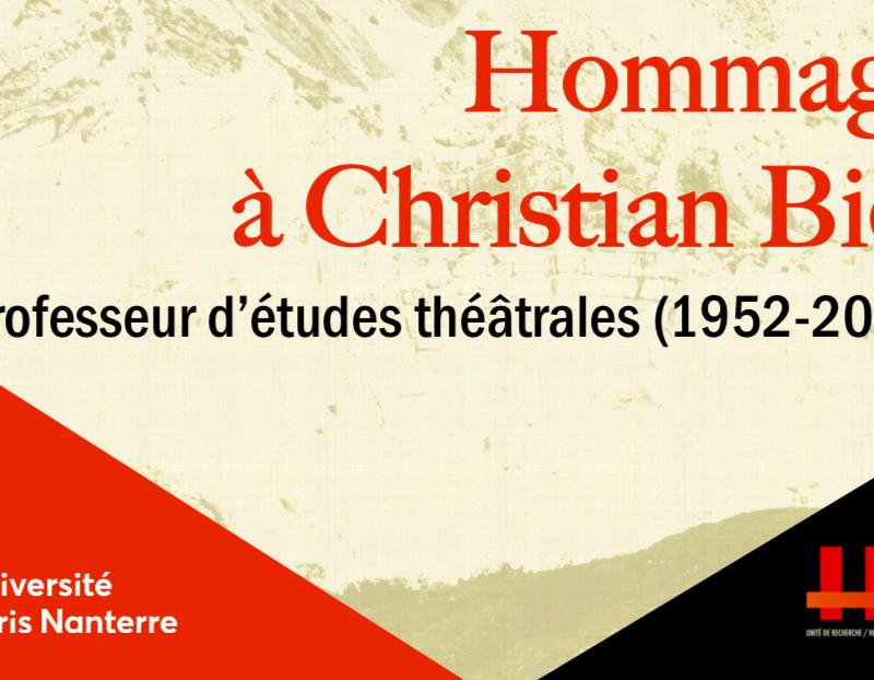 Vidéo / Hommage a Christian Biet, 15 octobre 2020, Théâtre Bernard-Marie Koltès